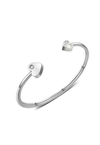 CELOVIS silver CELOVIS - Lovelyn Heart Cuff with Zirconia Slim Bangle in Silver 58713AC95965A0GS_1