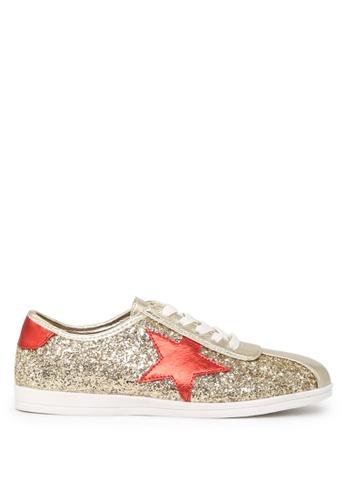 London Rag gold STAR Glitter Lace-up Sneakers SH1660 8A1B1SH48338F5GS_1