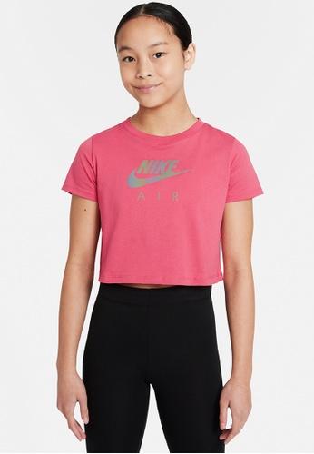 Nike red Girls' Sportswear Crop T-Shirt B692DKAAA2E602GS_1