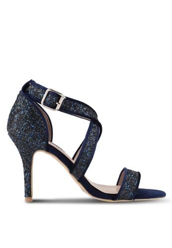 Dorothy Perkins blue Cobalt 'Sandrine' Heeled Sandals DO816SH0SD5EMY_1