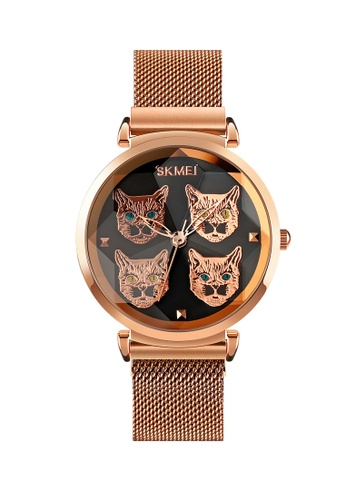 Fashion by Latest Gadget black SKMEI 1767 3D Cat Metal Finish Watch FB2A9ACCA39F2DGS_1