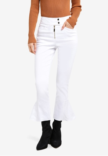 TOPSHOP white Heavy Twill Kflre Jeans TO412AA0SD6BMY_1