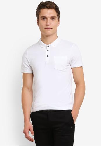 Burton Menswear London 白色 Muscle Fit POLO 衫 BU964AA0RULNMY_1