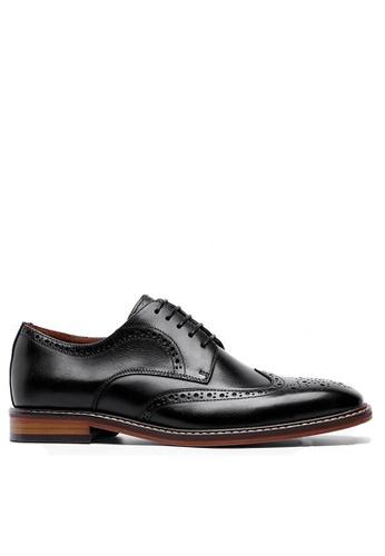 Twenty Eight Shoes 黑色 復古翼紋雕花德比鞋DS6737 82E9ASH3D81CAEGS_1