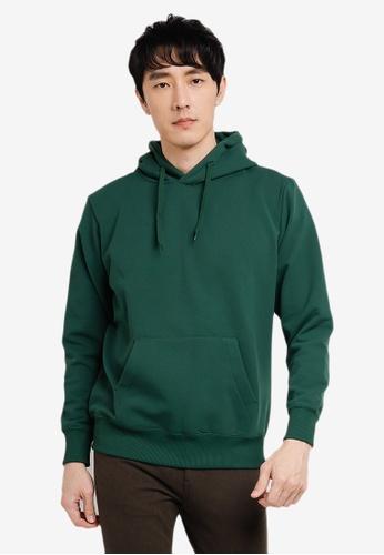 GLOBAL WORK green Knit Hoodie E8766AA9E4F967GS_1