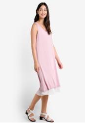 Mango pink Pleated Hem Dress MA193AA0RAW8MY_1