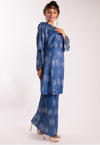 LIDYA KUALA LUMPUR blue Damaris Kurung Pahang FCAF0AAF8A36D9GS_1