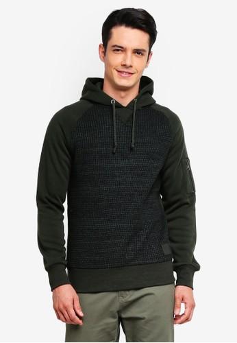 Brave Soul green Knitted Panel Raglan Sleeve hoodie 57EA0AAB77F7F5GS_1