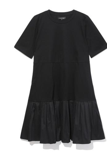 tout à coup black Tiered pleated dress FD0B8AA298B3A2GS_1