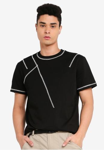 SPARROW GREEN black Stitch Oversized T-Shirt 83787AA1EFD1FBGS_1