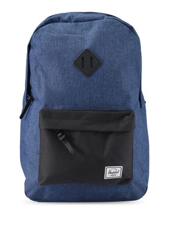 Herschel navy Heritage Backpack 79567AC9ACC1B3GS_1
