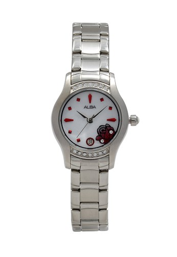 Alba silver ALBA Jam Tangan Wanita - Silver White - Stainless Steel - AXT367 232CFAC2C36C47GS_1