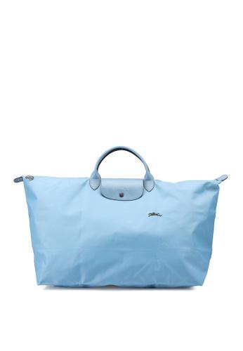 Longchamp blue Le Pliage Club L Travel Bag (zt) D2B7AAC3544DFDGS_1