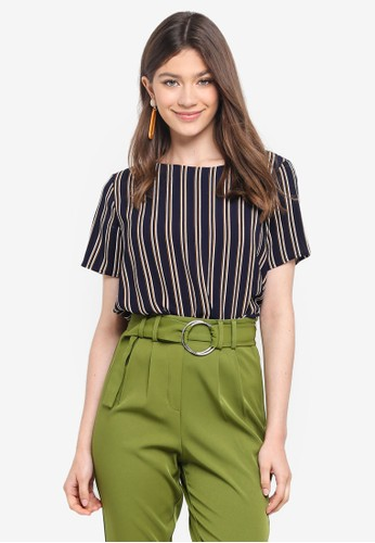 Pieces navy Nellie SS Top 277C8AAB53026FGS_1