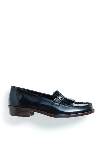HARUTA black Belt loafer-232 E4E1FSH2FE2F94GS_1