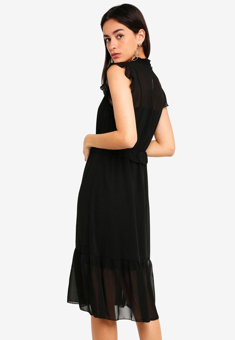 Vero Solid Becca Black Moda Dress Sleeveless Black 7nxWaFqvfw