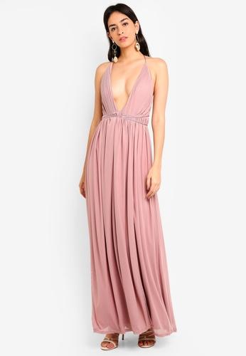 3f786ef931 MISSGUIDED pink Bridesmaid Pleated Silky Mesh Maxi Dress F2DA3AA8728DA2GS 1
