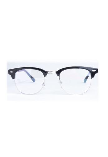 Kyfer's Eyewear & Essentials black Vintage Half Rim Clubmaster (Small) KY376AC82JZLSG_1