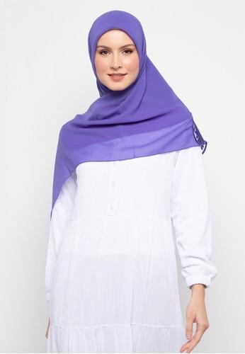 KASHKHA blue Hijab Square Poly Corner with Stone By Kashkha/A18SHBAHJBKGR3066-Blue B73E2AA4D0BE75GS_1