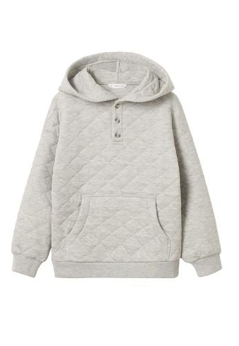 MANGO KIDS grey Quilted Hoodie Sweatshirt 6B0E4KAFBD9807GS_1