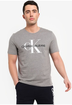 4550df60e7630 Calvin Klein grey Monogram Embroidery W O Box Regular Short Sleeve - Calvin  Klein Jeans