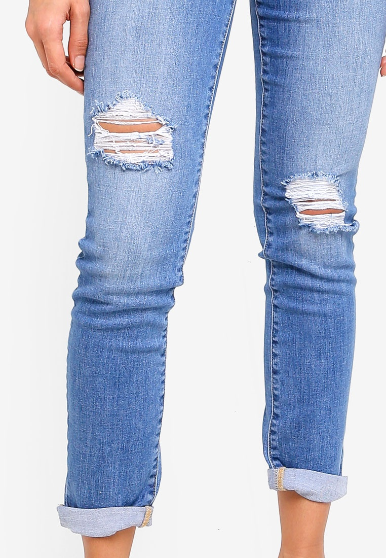 New Emmy Jeans Forever Brixton Mid Girlfriend Blue Rise ZSwFxTq7