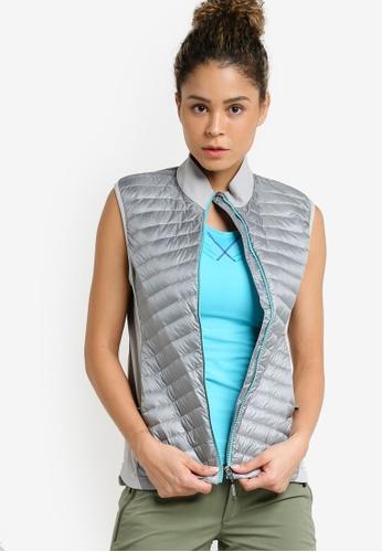 Odlo grey and silver Helium Cocoon Vest OD608AA44JZZMY_1