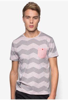 Playboy Round Neck All-over Print T-Shirt