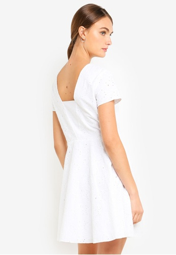 Armani Exchange white Lace Short Sleeve Dress 22096AAD31DAE6GS_1