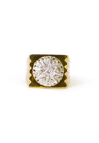 CEBUANA LHUILLIER JEWELRY gold 18 Karat Yellow Gold Ring With Diamonds E0B6BAC4C627C7GS_1