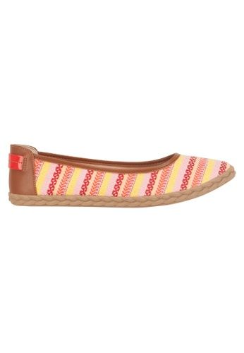 Beira Rio orange and multi Stripe Design Multi Colored Casual Slip On BE995SH72ESTHK_1
