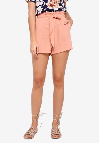 Pieces pink Kira High Waist Shorts F9464AA4473968GS_1