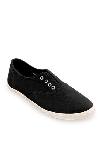 Minarno black Women Black Laceless Sneakers MI641SH33RZEID_1