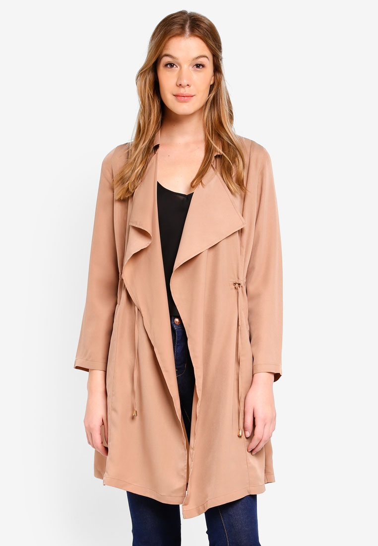 Basic BASICS Trench Coat Camel Soft ZALORA H5wTqfzq