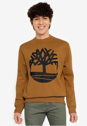 Timberland brown Core Tree Logo Sweatshirt 169E7AA7C27E99GS_1