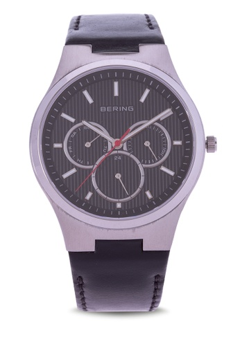 Bering silver Classic Watch with Leather Strap B4979AC1D2A612GS_1
