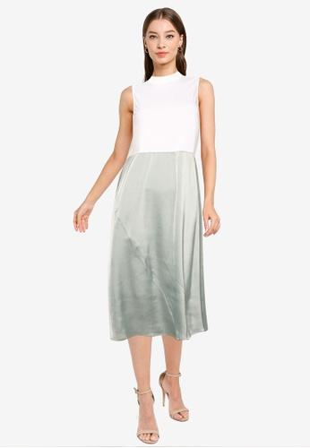 ZALORA WORK multi Contrast Fabric Midi Dress 7AB67AAE38CF62GS_1