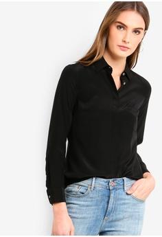 13f541c03be J.Crew black Silk Button-Up Shirt 08F73AA47E543DGS 1