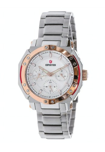 Expedition silver Expedition Jam Tangan - Silver Rosegold - Stainless Steel - 6385 BFBTRSL  6D77EAC8618F7FGS_1