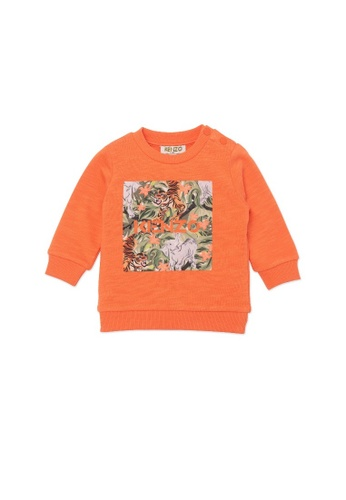 KENZO KIDS orange KENZO TIGER BABY BOYS SWEATSHIRT ED373KA6D842A6GS_1