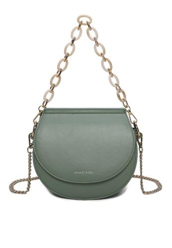 Milliot & Co. green Xylia Sling Bag 9FF39AC68A74FEGS_1