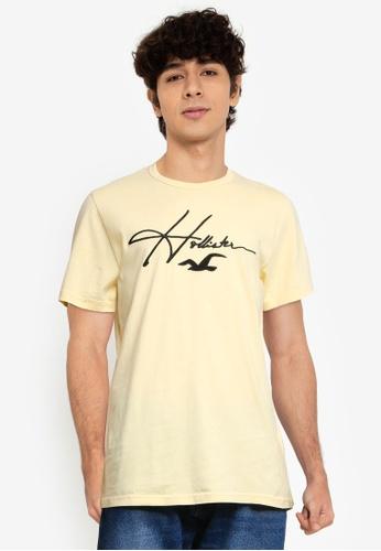 Hollister yellow Core Tech T-Shirt D15F7AABEB6DFBGS_1