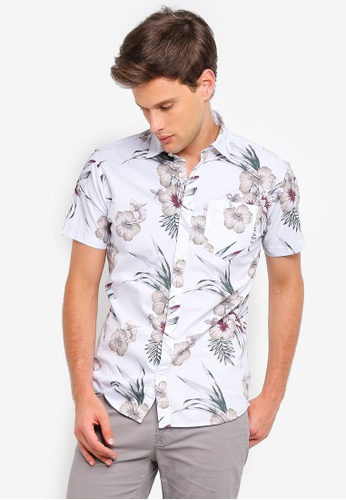 a26eb1375 Jack   Jones white Jack Floral Print Short Sleeve Shirt CA442AAEBA8DEEGS 1