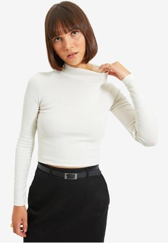 Trendyol white Ecru Blouse DA72FAA0F4EC1EGS_1
