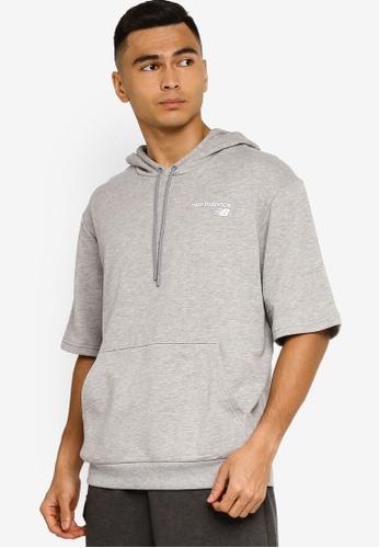New Balance grey NB Classic Short Sleeve Hoodie 4D833AAF3FEBB3GS_1