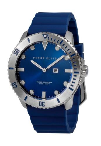 PERRY ELLIS blue Perry Ellis Deep Diver Men 46mm Quartz Watch 02002-03 D6B4EACEB37C84GS_1