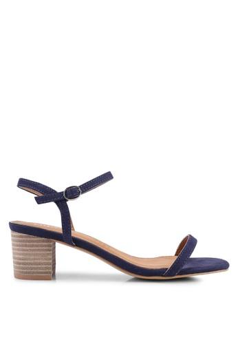 Rubi 海軍藍色 Wisteria Low Block Heels 6AD1DSHB905F81GS_1