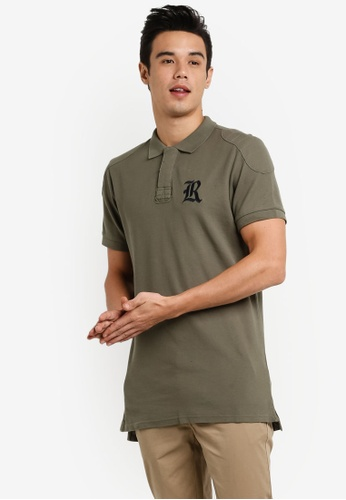 Cotton On green Short Sleeve Collegiate Polo Shirt CO372AA00JRBMY_1