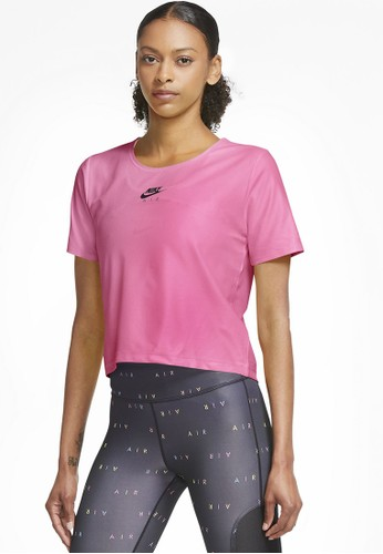 Nike pink AS Women's Nike Air Short-Sleeve Running Top AD77AAA69855CAGS_1