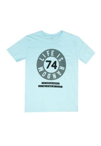 FOX Kids & Baby blue Graphic T-Shirt 74850KAF9C48A4GS_1